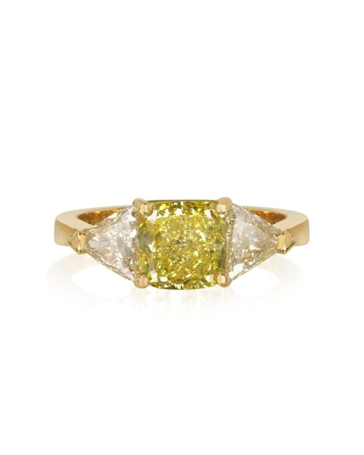 Forzieri - Yellow Diamond Gold Ring - Lyst