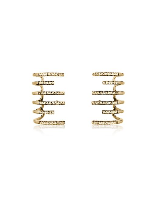 FEDERICA TOSI - Metallic New Hook Earrings W/strass - Lyst