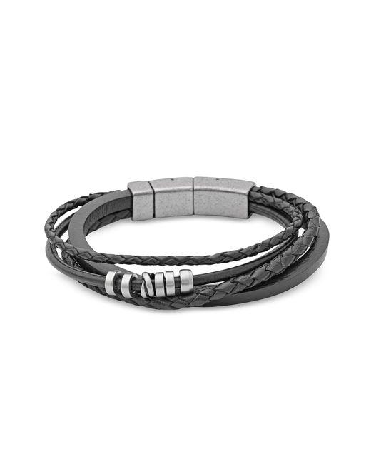 Fossil - Black Jf85299040 Vintage Casual Men's Bracelet for Men - Lyst