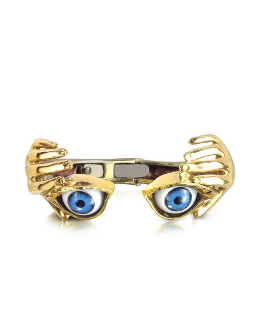 Bernard Delettrez - Metallic Bronze Hand Stiff Bracelet With Eye - Lyst