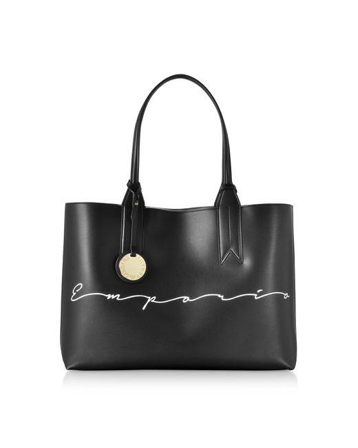 Lyst - Emporio Armani Signature Print Tote Bag in Black 5b67961dc5776