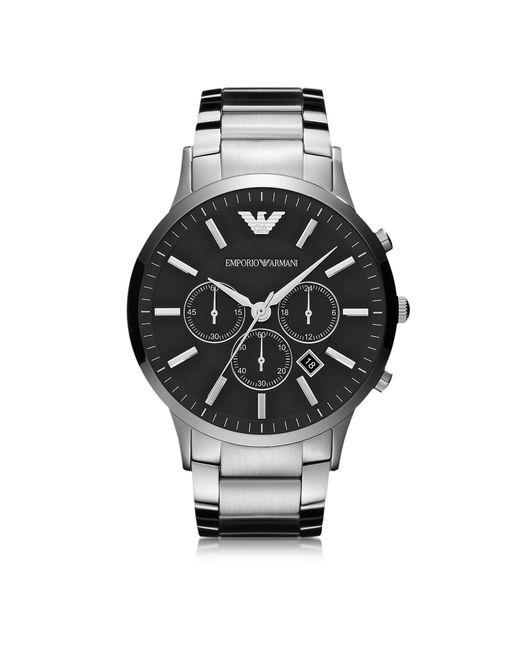 cca69d1fe2da Emporio Armani - Metallic Reloj para Hombre de Acero con Caja Negra for Men  - Lyst