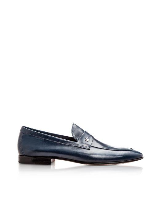 Moreschi - Black Brisbane Navy Kangaroo Leather Loafer Shoes for Men - Lyst
