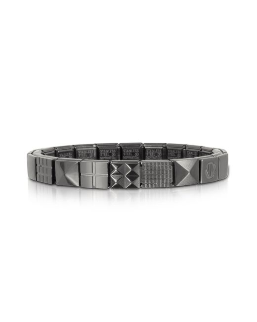 Nomination - Metallic Steel Ikons Pyramid And Mesh Brushed Stainless Steel Bracelet for Men - Lyst