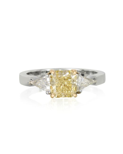 Forzieri | Metallic Diamond Gold Ring | Lyst