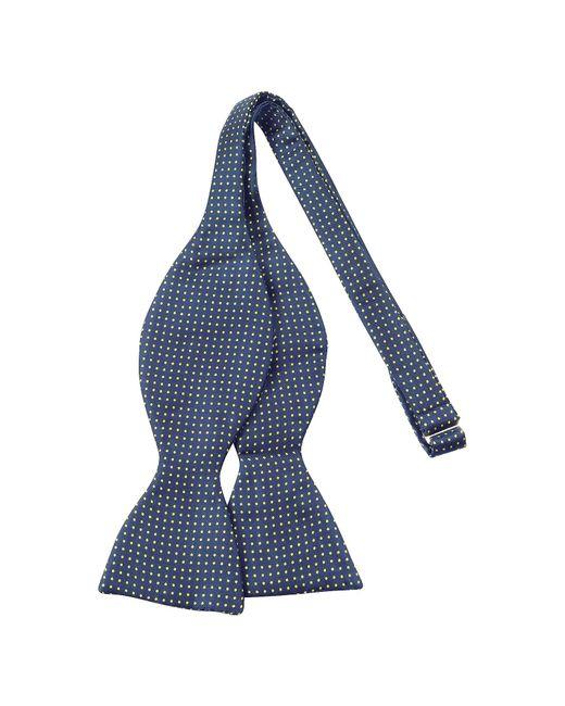 Forzieri - Blue Small Polkadot Self-tie Silk Bowtie for Men - Lyst