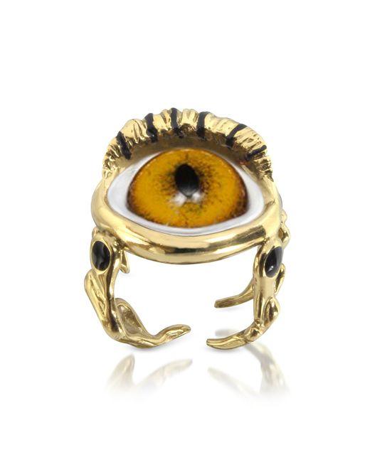 Bernard Delettrez - Metallic Bronze Eye Ring - Lyst