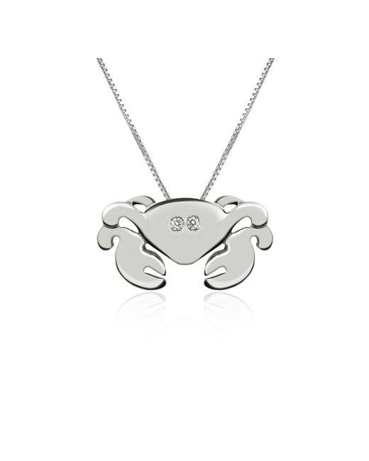 Forzieri | White Diamond 18k Gold Crab Pendant Necklace | Lyst