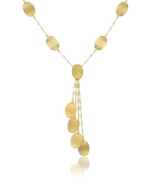 Torrini - Metallic Lenticchie Moving - 18k Yellow Gold Drop Necklace - Lyst