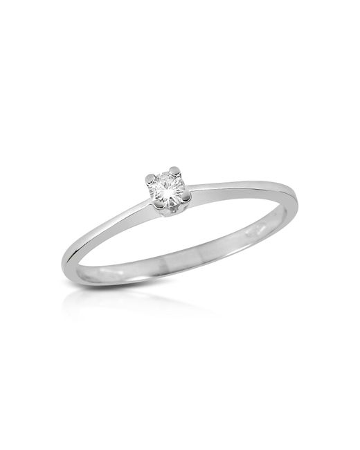 Forzieri | Multicolor 0.04 Ct Prong-set Diamond Solitaire Ring | Lyst