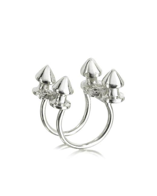 Bernard Delettrez - Metallic Four Studs Silver Ring - Lyst