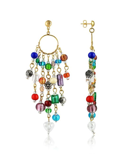 Antica Murrina - Multicolor Brio - Murano Glass Bead Chandelier Earrings - Lyst