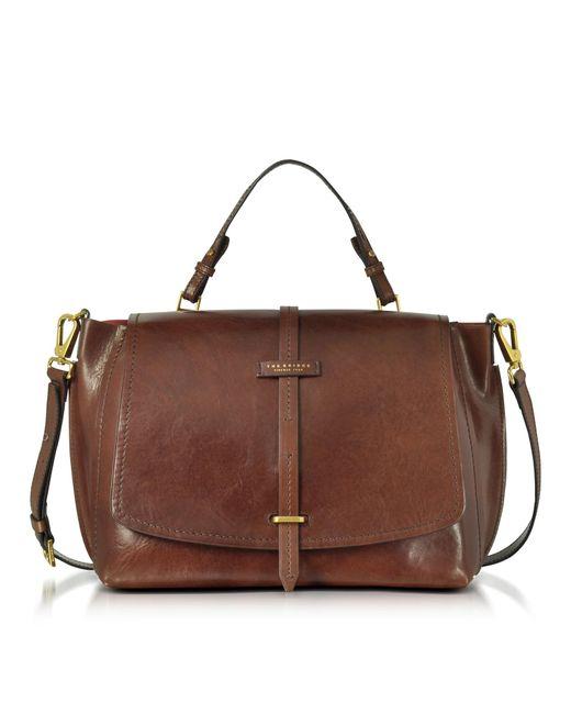 ef58fc832845 The Bridge - Brown Leather Dual Function Oversized Satchel Bag - Lyst