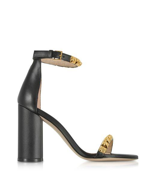 Stuart Weitzman - Black Leather The Rosemarie Sandals - Lyst