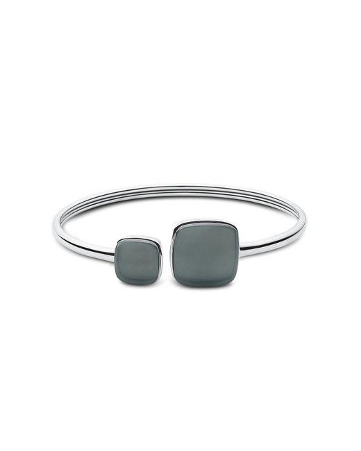 Skagen - Metallic Sea Glass Square Silver Tone Women's Bangle - Lyst