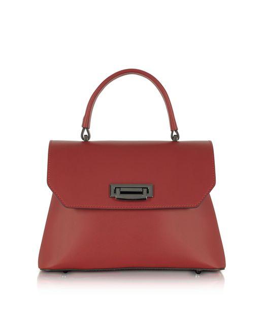 Le Parmentier - Red Lutece Burgundy Leather Top Handle Satchel Bag - Lyst