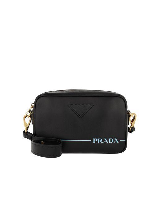 9cbf003d53a755 Lyst - Prada Mirage Leather Crossbody Bag Nero in Black