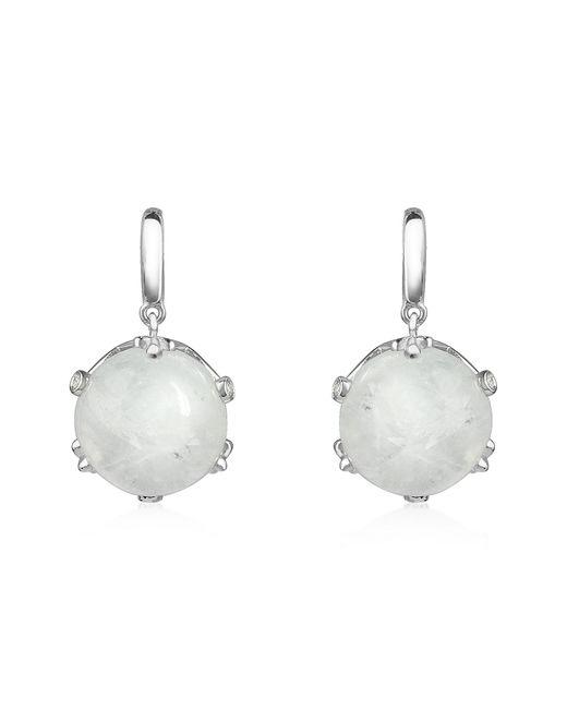 Mia & Beverly - Metallic Spectrolite And Diamond 18k Gold Earrings - Lyst