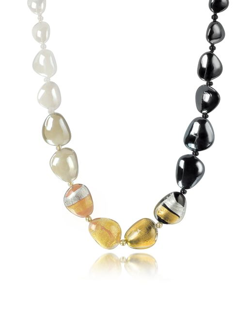 Antica Murrina | Metallic Moretta Pastel Glass Beads W/24kt Gold Leaf Necklace | Lyst
