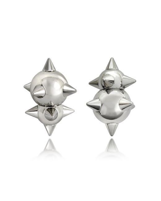 DSquared² - Metallic Pierce Me Palladium Plated Metal Spiked Earrings - Lyst