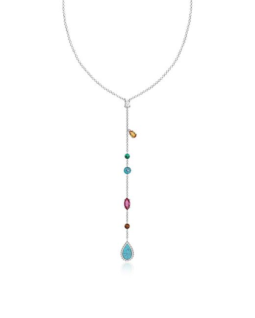 Thomas Sabo - Metallic Sterling Silver Riviera Colours Long Necklace W/ceramic Stones - Lyst