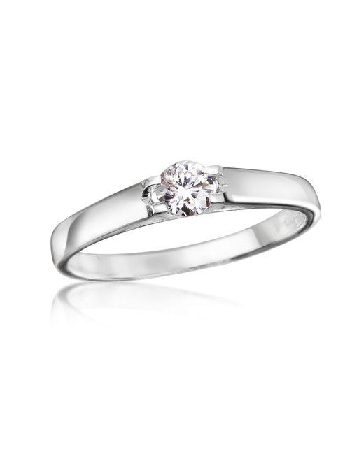 Forzieri - White 0.24 Ctw Diamond Solitaire Ring - Lyst