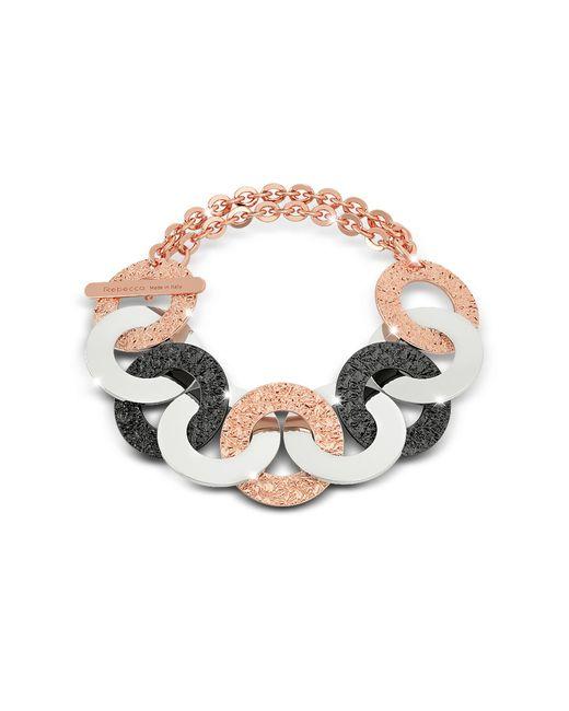 Rebecca | Metallic R-zero Rose Gold Over Bronze And Steel Chain Bracelet | Lyst