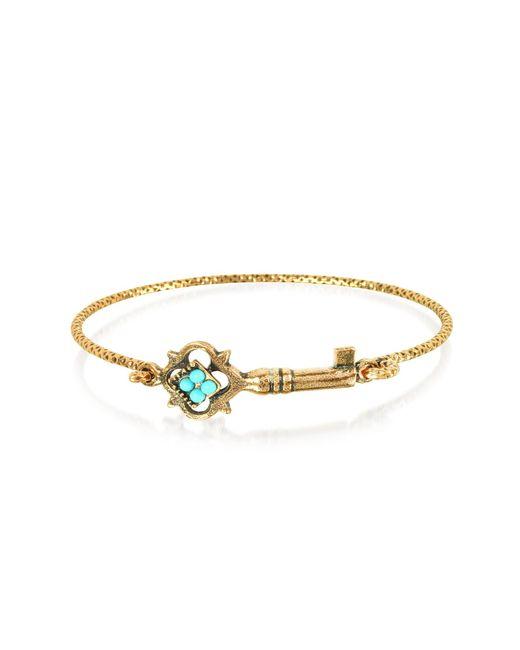 Alcozer & J - Metallic Turquoise Key Bracelet - Lyst