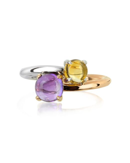 Mia & Beverly - Purple Amethyst And Citrine Quartz 18k Rose & White Gold - Lyst
