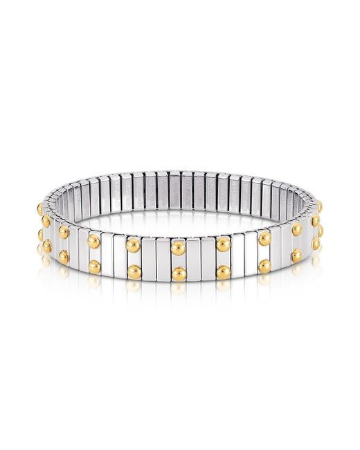 Nomination | Metallic Beads Stainless Steel W/golden Studs Women's Bracelet | Lyst