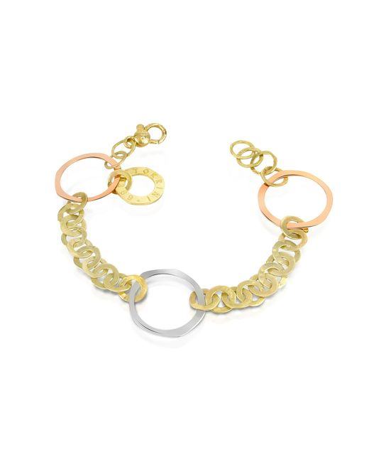 Torrini | Metallic Fiesole - Three-tone 18k Gold Circles Chain Bracelet | Lyst