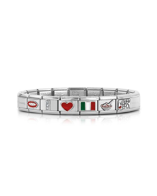 Nomination - Metallic Classic That's Italy Sterling Silver And Stainless Steel Bracelet - Lyst
