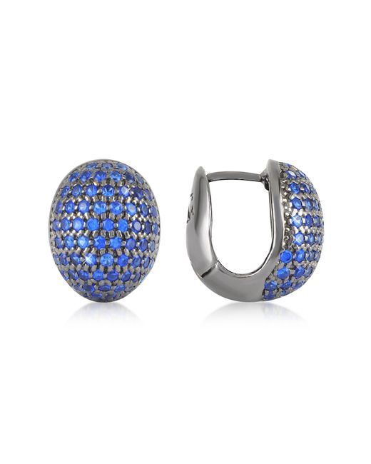 Azhar | Blue Cubic Zirconia Earrings | Lyst