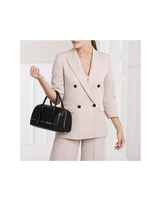 8654dfdbd06858 ... Prada - Mirage Handbag Leather Black - Lyst ...