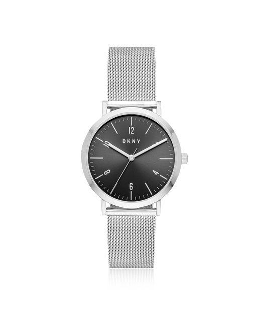 DKNY - Metallic Minetta Stainless Steel Mesh Women's Watch - Lyst