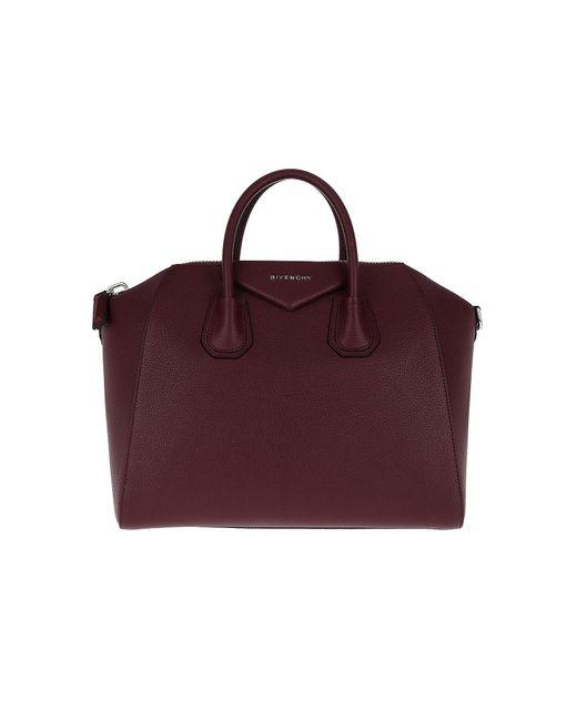 Givenchy - Red Antigona Medium Tote Aubergine - Lyst ... 3b7af5038f