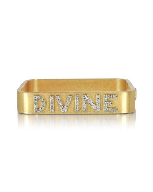 Tory Burch - Metallic Divine Message Vintage Goldtone Cuff Bracelet - Lyst