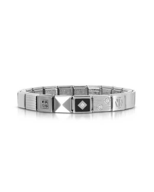 Nomination - Metallic Steel Ikons Black Pyramid Stainless Steel Bracelet W/cubic Zirconia for Men - Lyst
