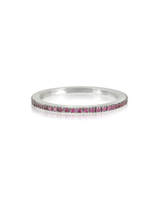 Forzieri - Natural Pink Sapphire Eternity Band Ring - Lyst