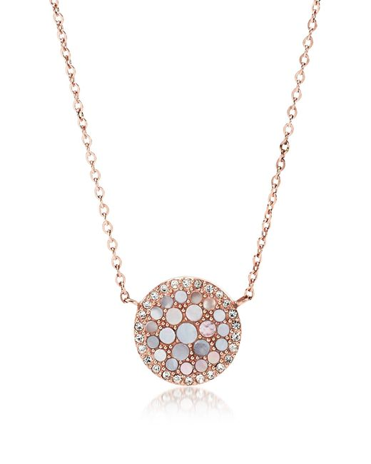 Fossil - Multicolor Pearl Disc Pendant Women's Necklace - Lyst