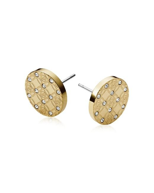 Michael Kors | Metallic Heritage Metal Earrings W/crystals | Lyst