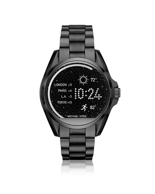 Michael Kors | Black Stainless Steel Bradshaw Women's Smartwatch | Lyst