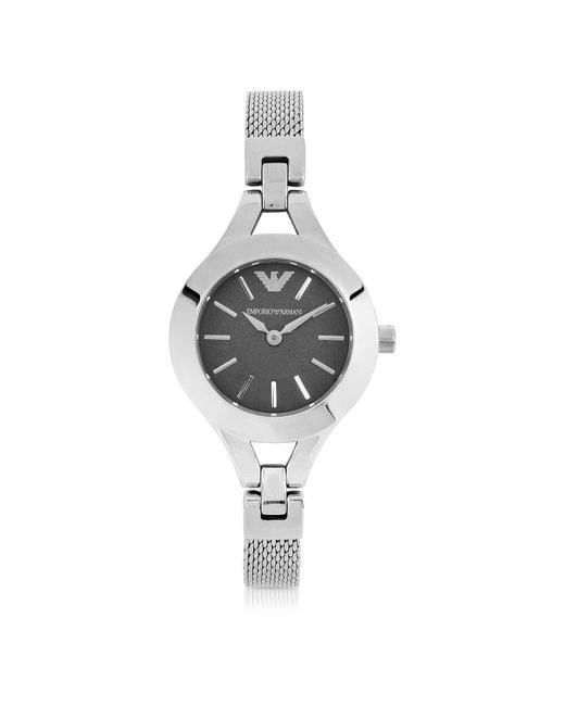 Emporio Armani - Metallic Women's Classic Stainless Steel Mesh Bracelet Watch - Lyst