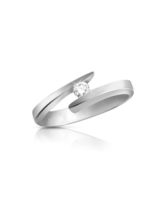 Forzieri - Metallic 0.065 Ct Diamond 18k Gold Solitaire Ring - Lyst