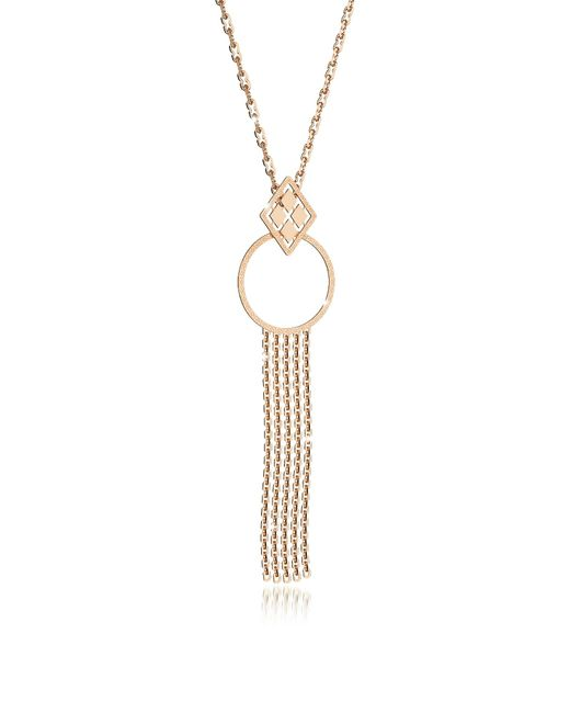 Rebecca | Melrose Yellow Gold Over Bronze Cuff Necklace W/geometric Charms | Lyst