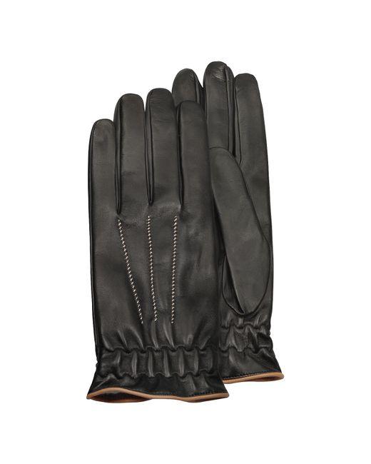 Forzieri - Multicolor Herren-Handschuhe aus schwarzem Kaschmir und Kalbsleder for Men - Lyst