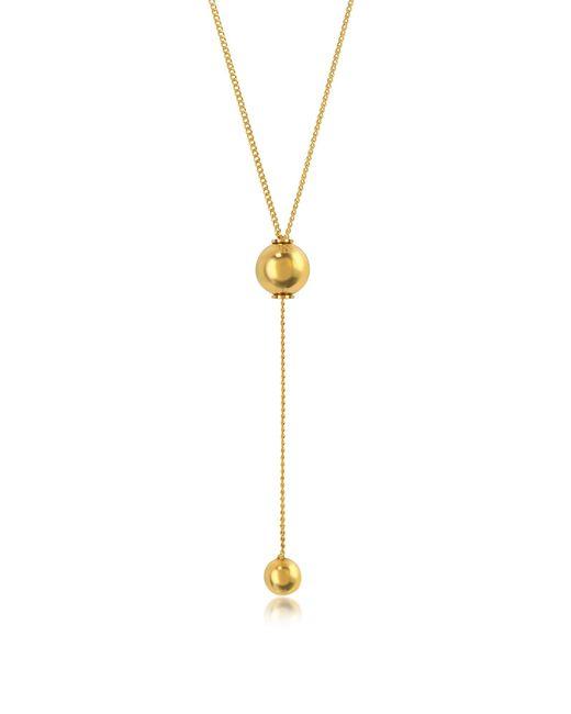 Vita Fede - Metallic O'hara Gold Tone Drop Lariat Necklace - Lyst