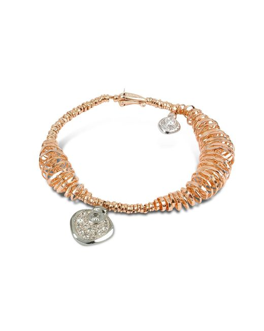 Orlando Orlandini | Pink Galaxy - Diamond Charm 18k Rose Gold Bracelet | Lyst