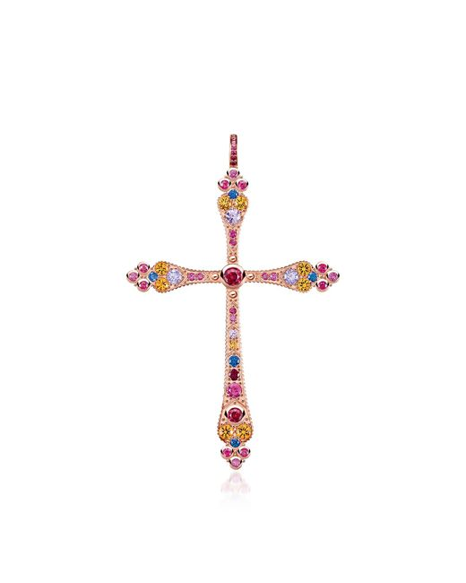 Thomas Sabo - Metallic 18k Rose Gold Plated Sterling Silver Royalty Cross Pendant - Lyst