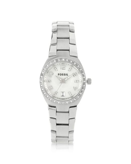 Fossil - Metallic Stainless Steel & Crystals Women's Bracelet Watch - Lyst